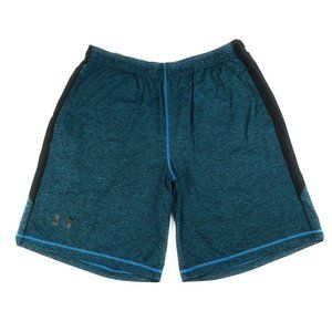 Under Armour Mens Teal Black Pocketed Shorts, XL
